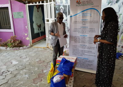 Presentation of food items at Mother Theresa Children's Home