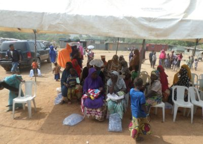 Visit to the women and children of the Area one IDP Camp. The excitement on their faces were immeasurable