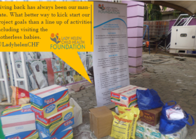 The donations made on behalf of the LHCHF to the Orphanage