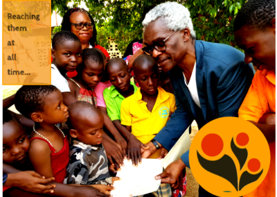 The children insisted on accepting the Cheque directly this time