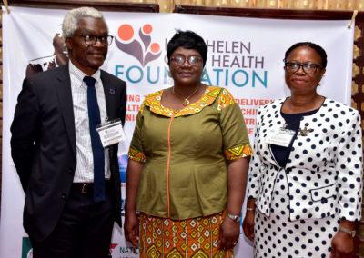 LHCHF CEO Dr Ben Odeka, Tinu Taylor Deputy Director Federal Ministry of Health, Dr. Mrs Francisca Odeka LHCHF Secretary