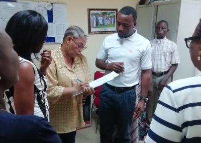 Lady Dorcas foundation signing the acceptance of PTAP medical grant from LHCHF