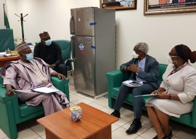 LHCHF Advocacy Visit with the Chairman, House Committee on Health Care Services, Hon. Dr. Yusuf Sununu Tanko