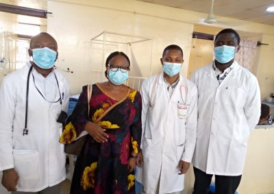 The Operational Director and Secretary to Lady Helen Child Health Foundation and University of Abuja Teaching Hospital, Gwagwalada Doctors during PTAP grant presentation