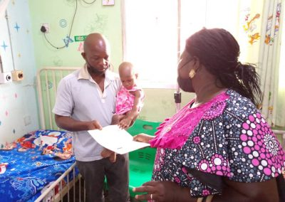 Baby Adewunmi a PTAP Grant Beneficiary at the Asokoro District Hospital - April 2021