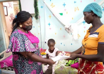 Baby Polycap Divine a PTAP Grant Beneficiary at the Asokoro District Hospital - April 2021