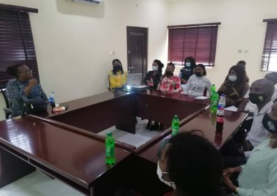 Cross Section of LHCHF Volunteers during Induction Training in Lagos Office – March 2021
