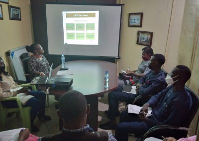 Cross Section of Volunteers during LHCHF Induction Training in Abuja Office – May 2021