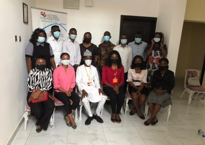 LHCHF Volunteers Group Photograph during Induction Training in Lagos Office – March 2021