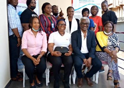 CEO Operational Director of LHCHF and Representatives from Orphanages at LHCHF Lagos Outreach Programme