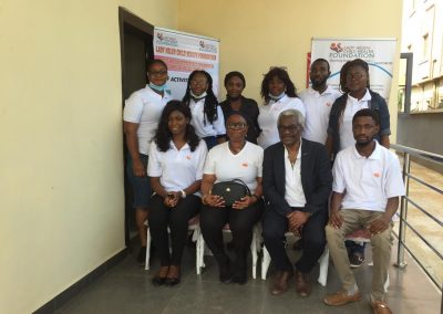 CEO, Operational Director with LHCHF Lagos Staff and Volunteers