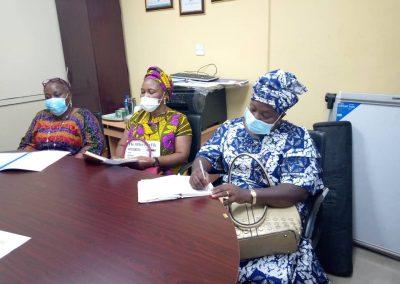 From Left - Mrs Laditan (Chair) Mrs Alokpa & Mrs Ekama (LHCHF PTAP Committee Members) - Members Fundraising Committee