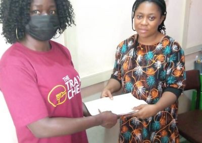 PTAP Grant Presentation to the Mother of D.T. a patieent at Garki Hospital - June 2021