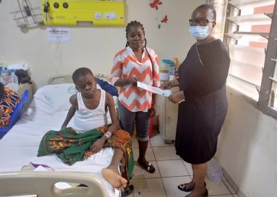 PTAP Grant Presentation at the National Hospital, Abuja on July 15 2021. Picture shows mother, the beneficiary & LHCHF OD