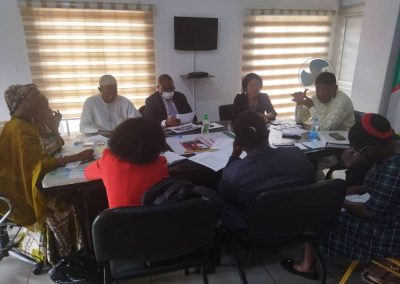 Planning Committee Members during the June 29 Delibaring on the forthcoming Market Place Event