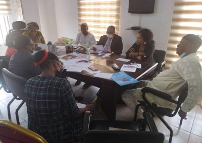 Planning Committee Members during the June 29 Meeting in preperation for the Market Place Event